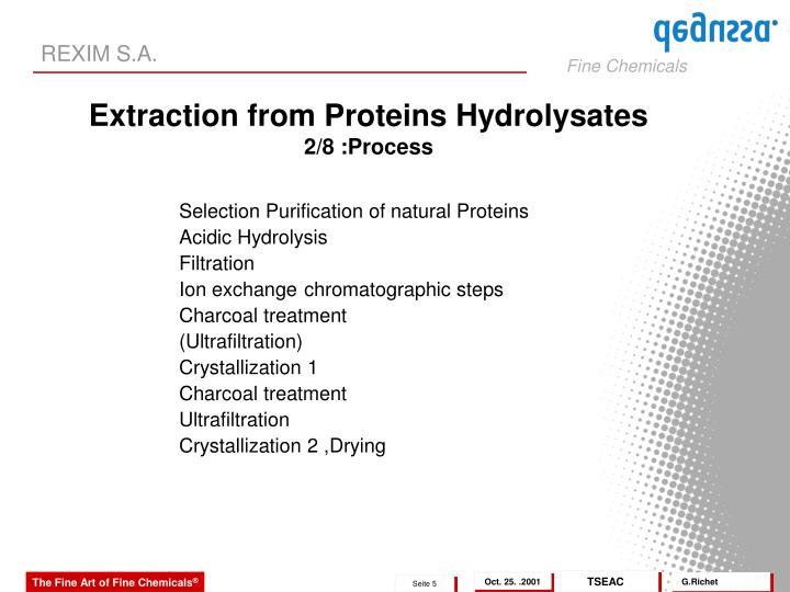 Selection Purification of natural Proteins