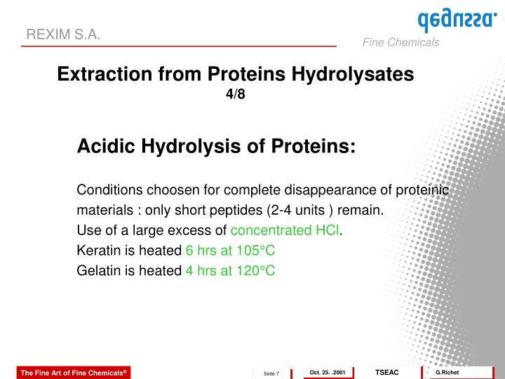 Acidic Hydrolysis of Proteins: