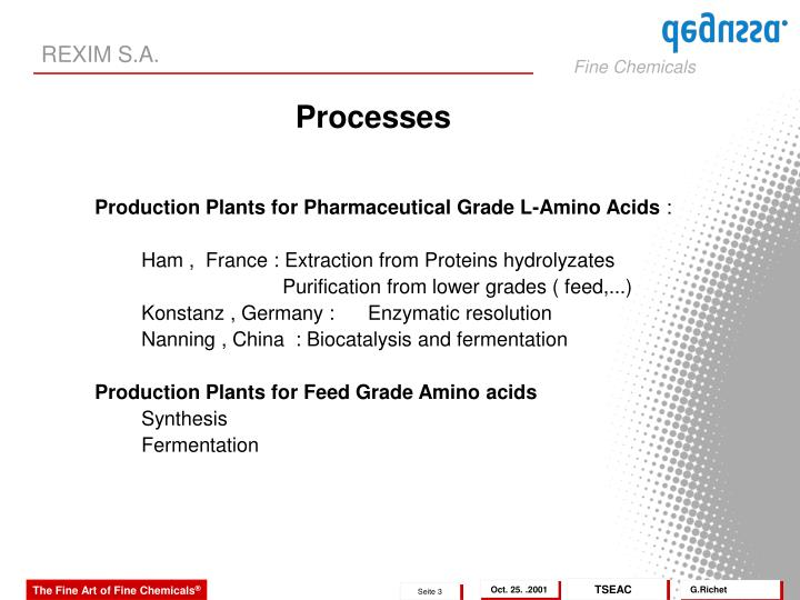 Production Plants for Pharmaceutical Grade L-Amino Acids