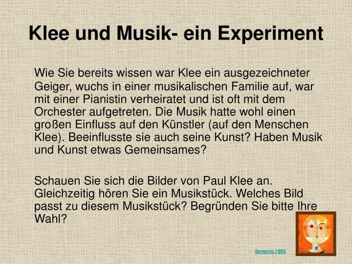 Klee und Musik- ein Experiment