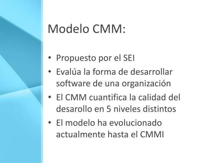 Modelo CMM:
