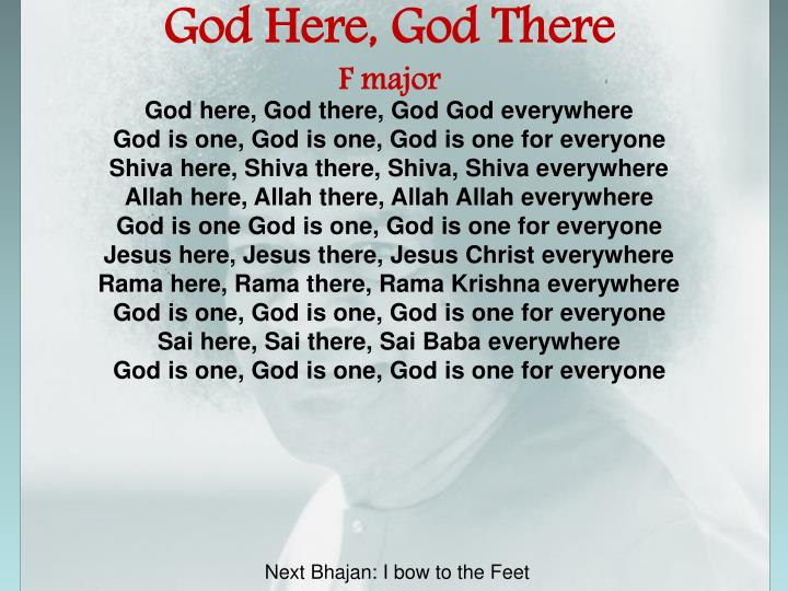 God Here, God There