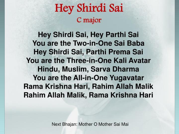 Hey Shirdi Sai