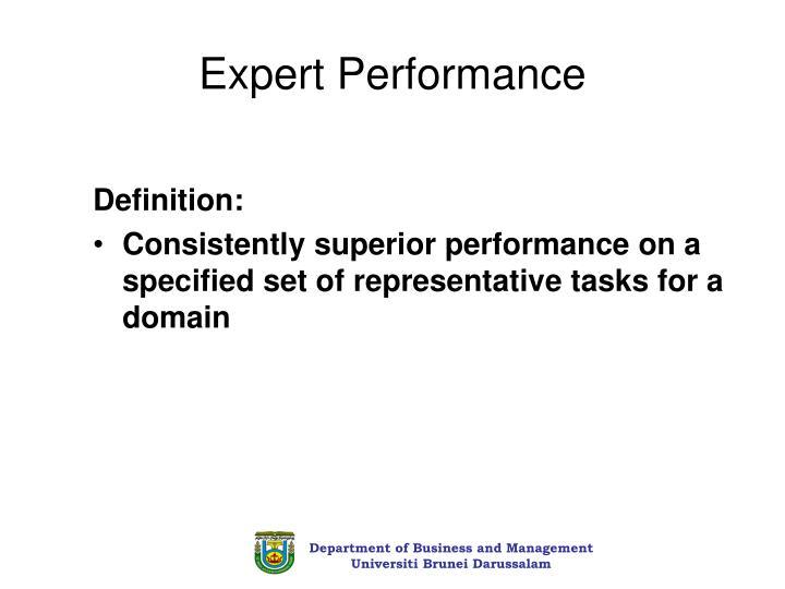 Expert Performance