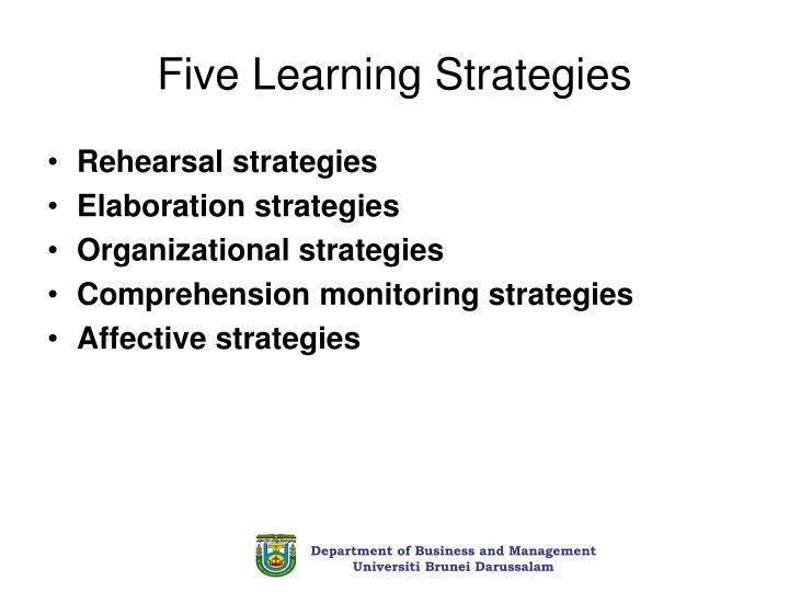 Five Learning Strategies