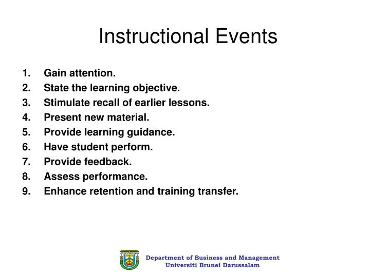 Instructional Events