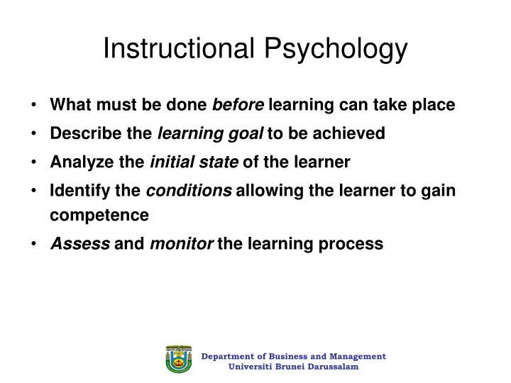Instructional Psychology