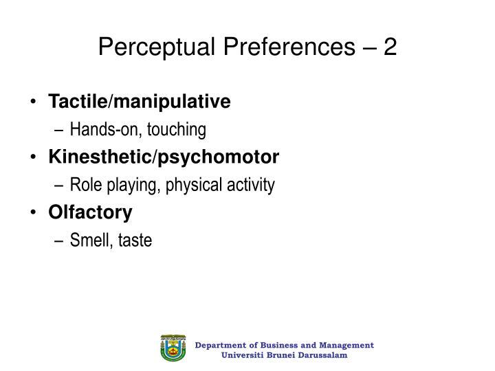 Perceptual Preferences