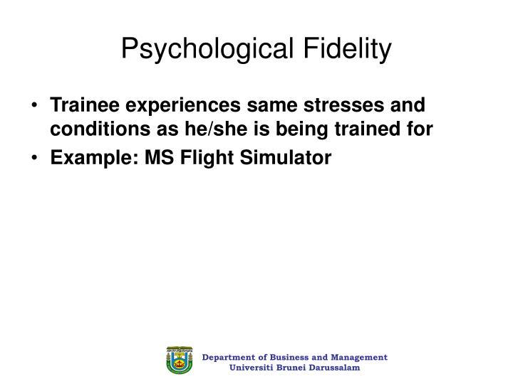 Psychological Fidelity