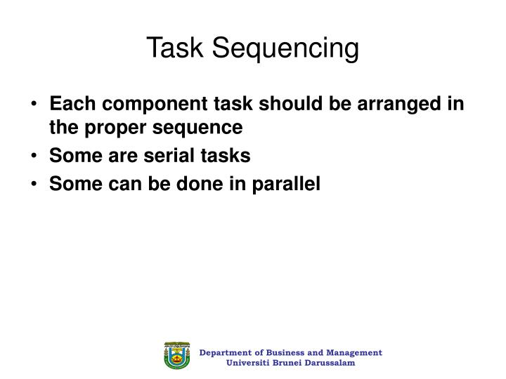 Task Sequencing