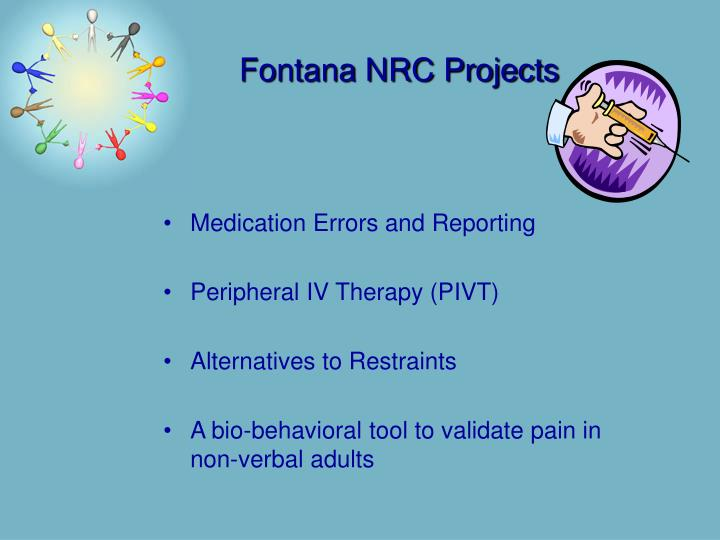Fontana NRC Projects