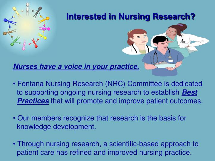 Interested in nursing research