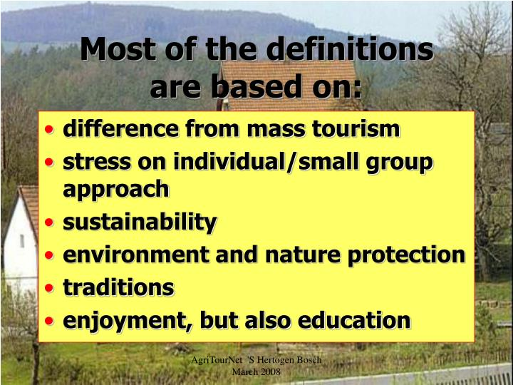 Most of the definitions