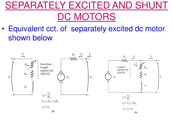 SEPARATELY EXCITED AND SHUNT DC MOTORS