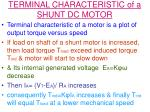 terminal characteristic of a shunt dc motor