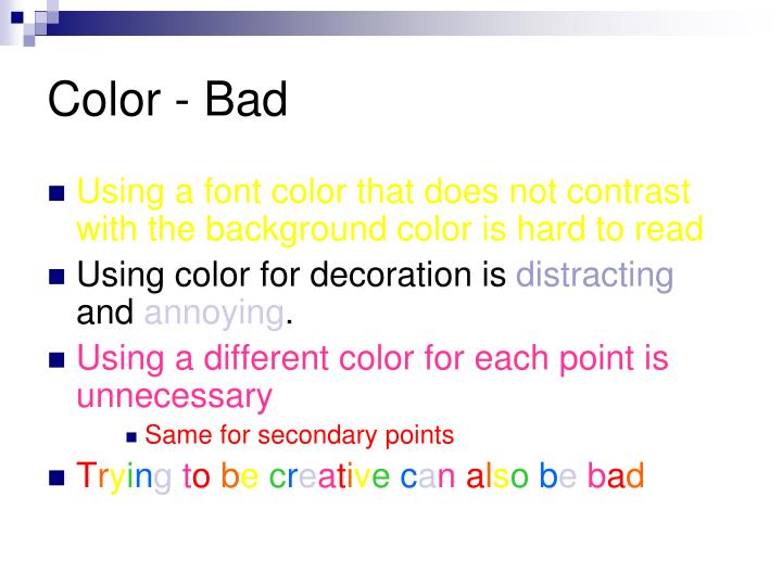 Color - Bad