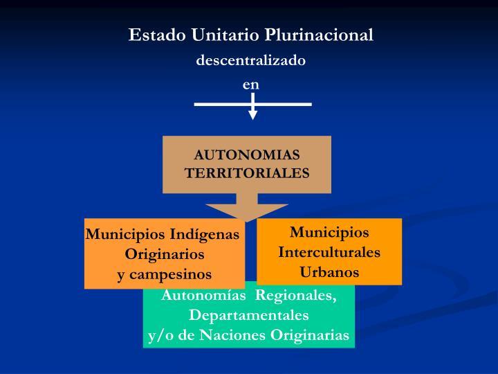 Estado Unitario Plurinacional