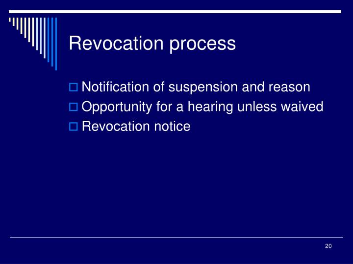 Revocation process