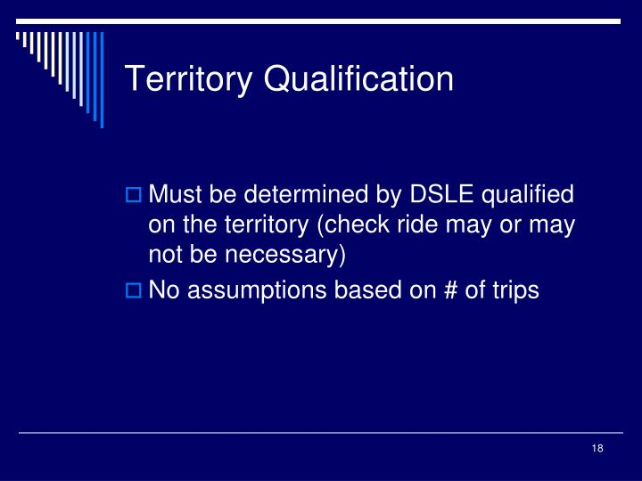 Territory Qualification