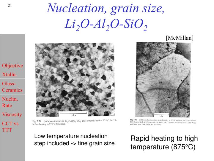 Nucleation, grain size,