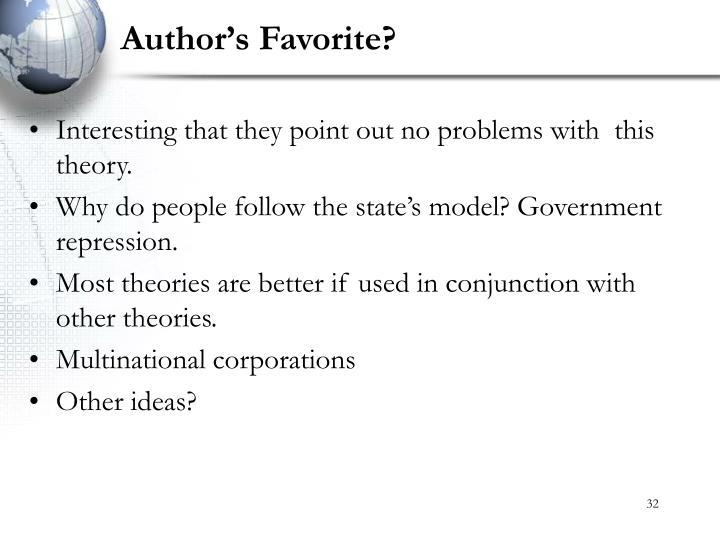 Author's Favorite?
