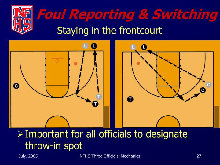 Foul Reporting & Switching