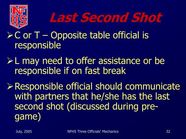 Last Second Shot