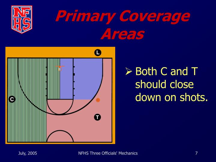 Primary Coverage Areas
