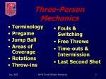 three person mechanics