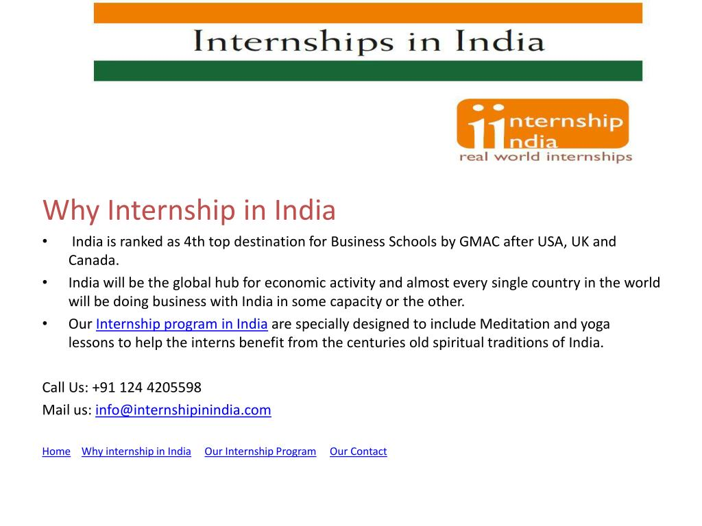 Why Internship in India