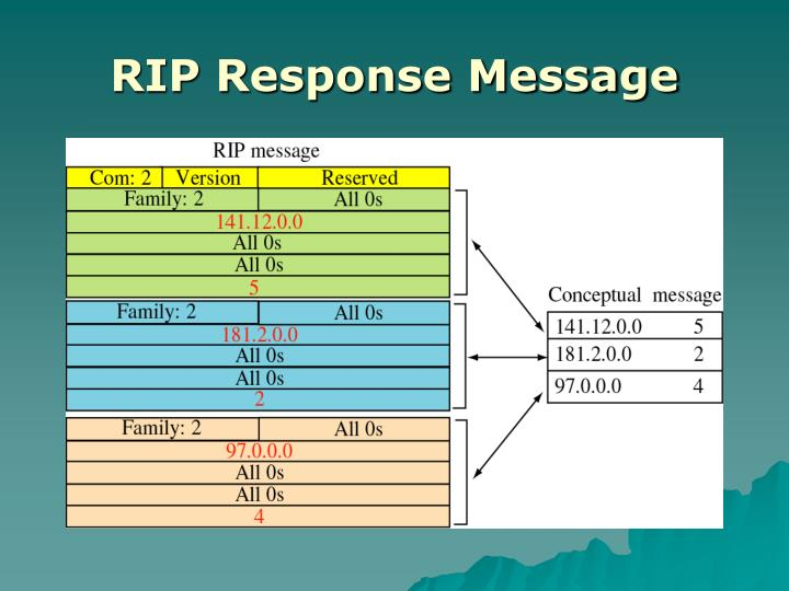 RIP Response Message