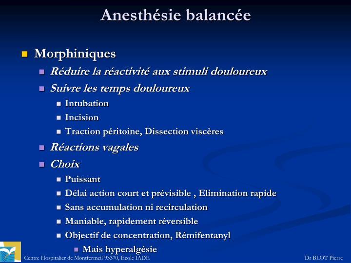 Anesthésie balancée