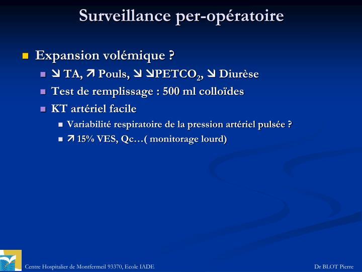 Surveillance per-opératoire