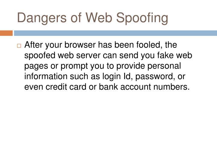 Dangers of Web Spoofing