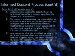 informed consent process cont d1