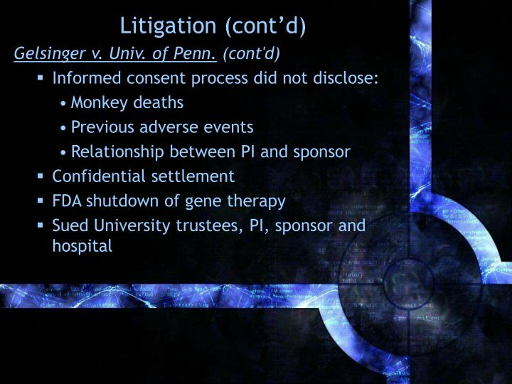 Litigation (cont'd)