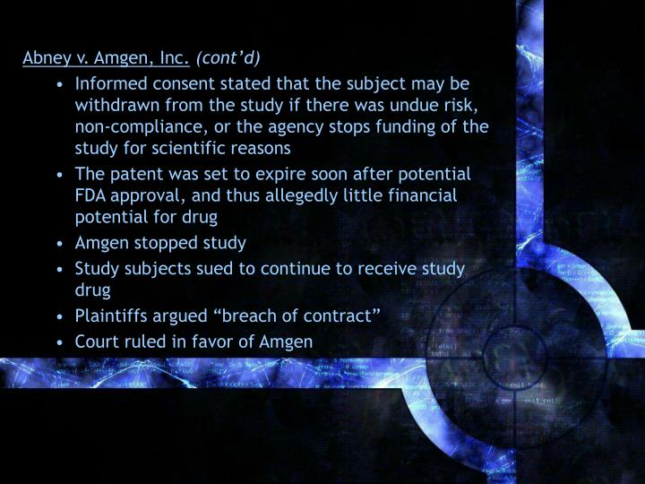 Abney v. Amgen, Inc.