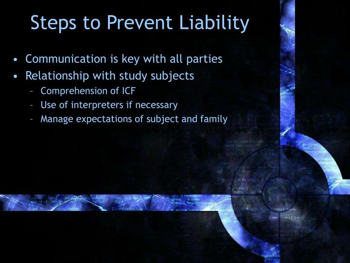 Steps to Prevent Liability