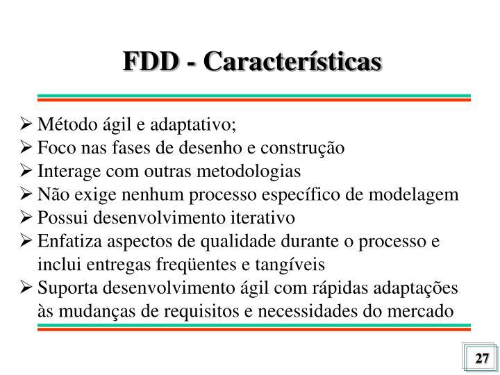 FDD - Características