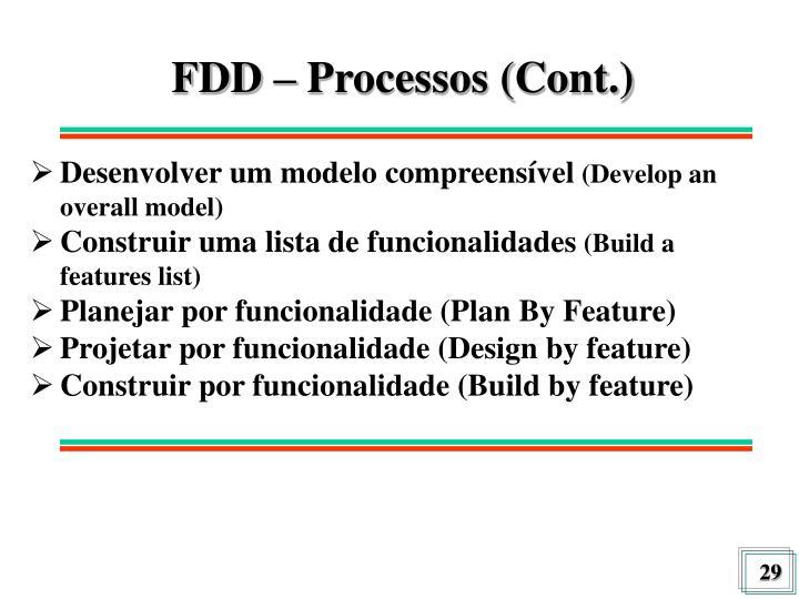 FDD – Processos (Cont.)