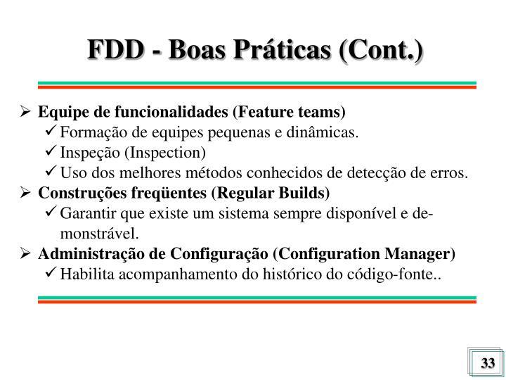 FDD - Boas Práticas