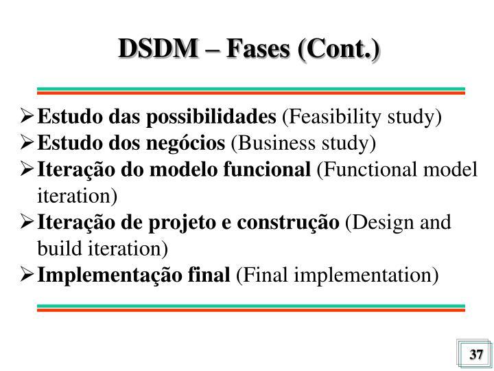 DSDM – Fases (Cont.)