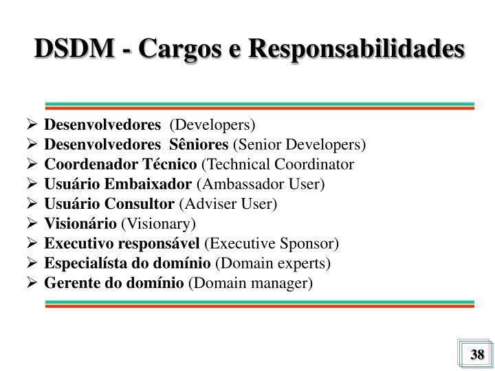 DSDM - Cargos e Responsabilidades