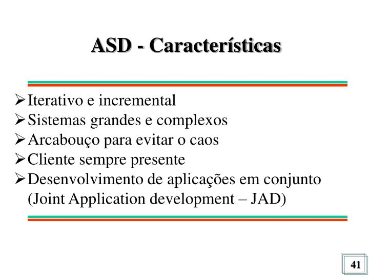 ASD - Características