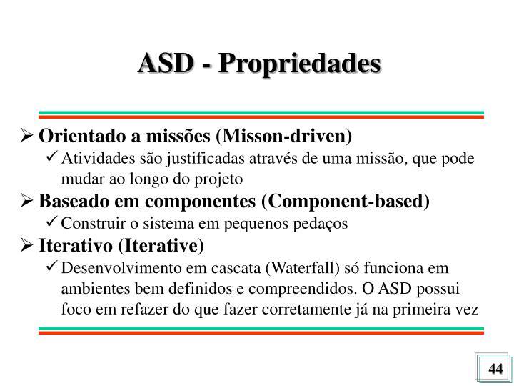 ASD - Propriedades