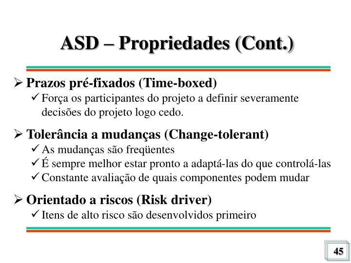 ASD – Propriedades (Cont.)
