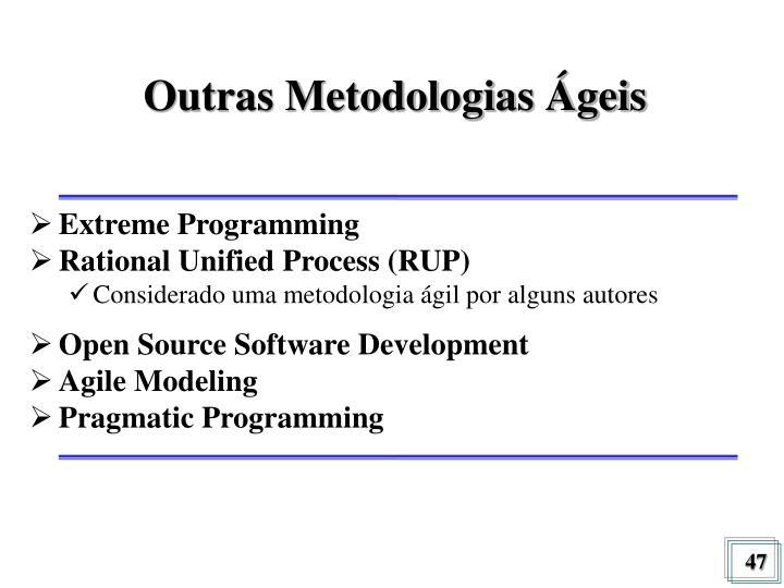 Outras Metodologias Ágeis