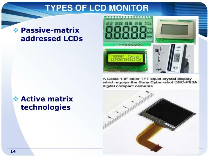 TYPES OF LCD MONITOR