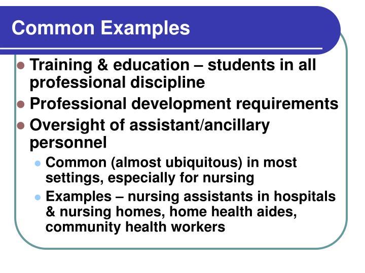 Common Examples