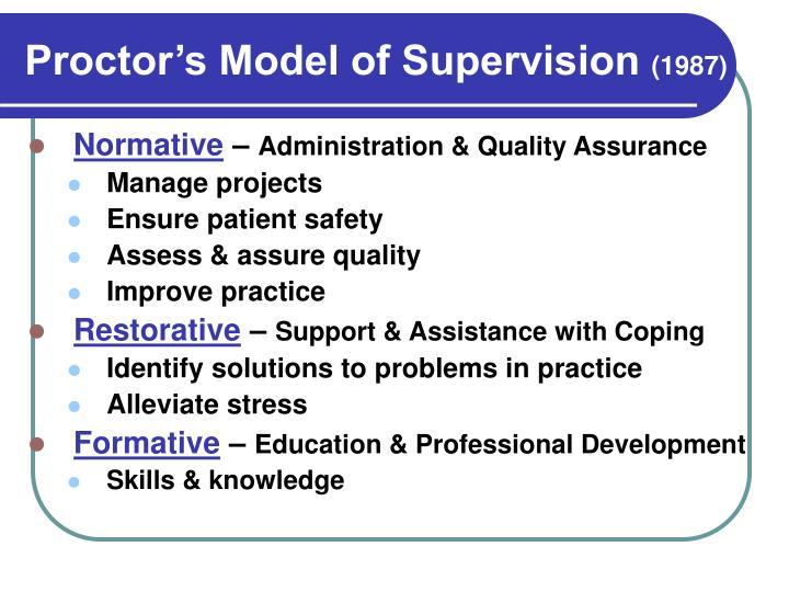 Proctor's Model of Supervision